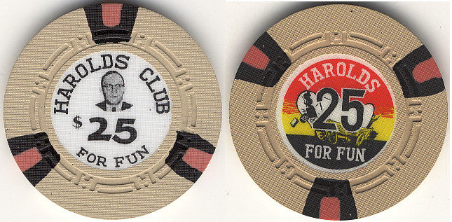 Harold's Club $25 chip - Spinettis Gaming - 2