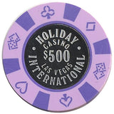 Holiday International $500 (purple) chip - Spinettis Gaming - 1