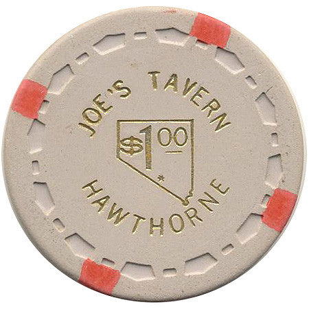 Joe's Tavern $1 (beige) chip - Spinettis Gaming - 1