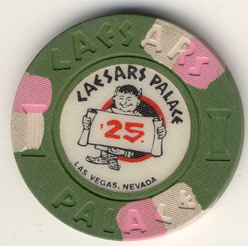 Caesars Palace $25 (green 70s 80s) Chip - Spinettis Gaming