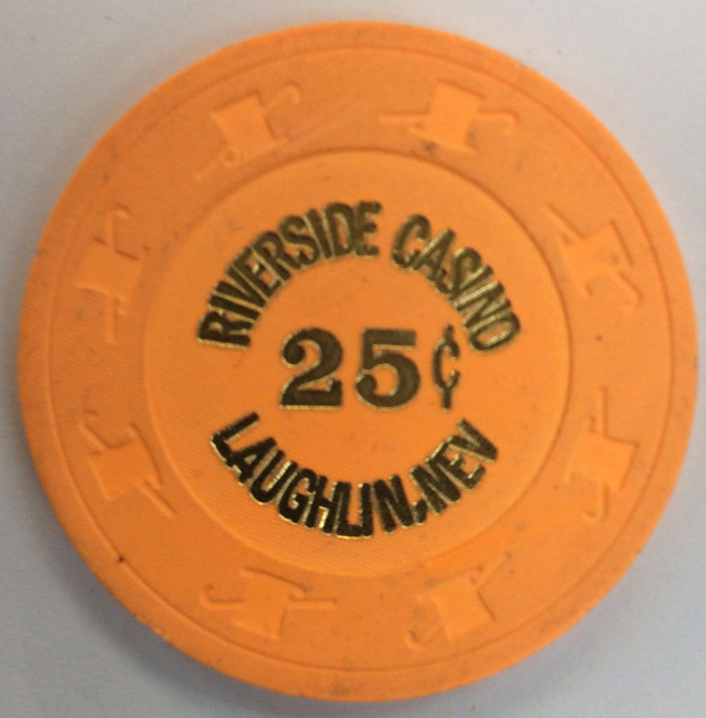 Riverside Casino Laughlin 25cent (orange) chip