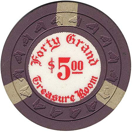 Forty Grand $5 chip - Spinettis Gaming - 1