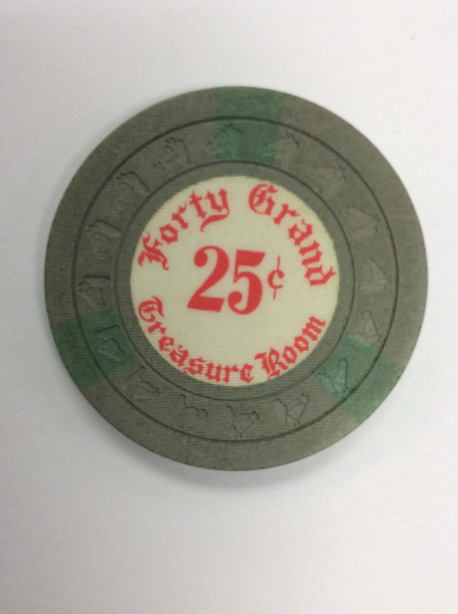 Forty Grand 25cent chip - Spinettis Gaming