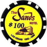 Sands Hotel $100 chip - Spinettis Gaming - 1