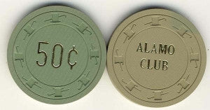 Alamo Club 50cent (1952) Chip - Spinettis Gaming