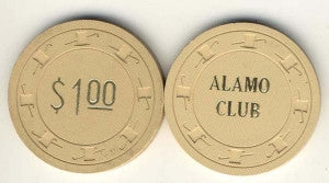Alamo Club Pioche $1 Chip 1952