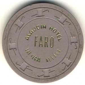Aladdin Casino Faro (Gray 1970) Chip - Spinettis Gaming - 1