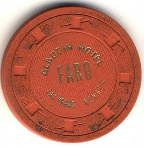 Aladdin Casino Faro (Orange 1970) CHip - Spinettis Gaming - 2