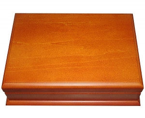 Wooden 2 Deck Card Case - Maple - Spinettis Gaming - 1