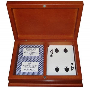 Wooden 2 Deck Card Case - Maple - Spinettis Gaming - 2