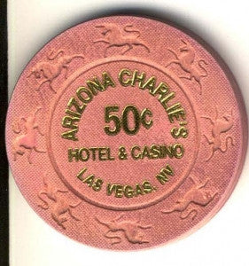 Arizona Charlies Hotel Casino 50cent (pink 1997) chip