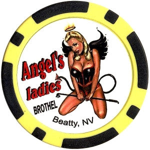 Brothel Angel's Ladies Chip (Black/yellow)