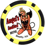 Brothel Angel's Ladies Chip (Black/yellow) - Spinettis Gaming - 1