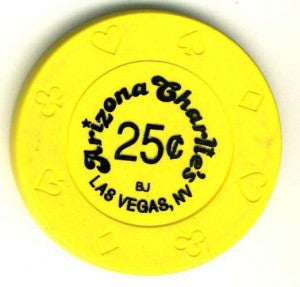 Arizona Charlies Casino 25 ( yellow 1997) Chip - Spinettis Gaming - 2