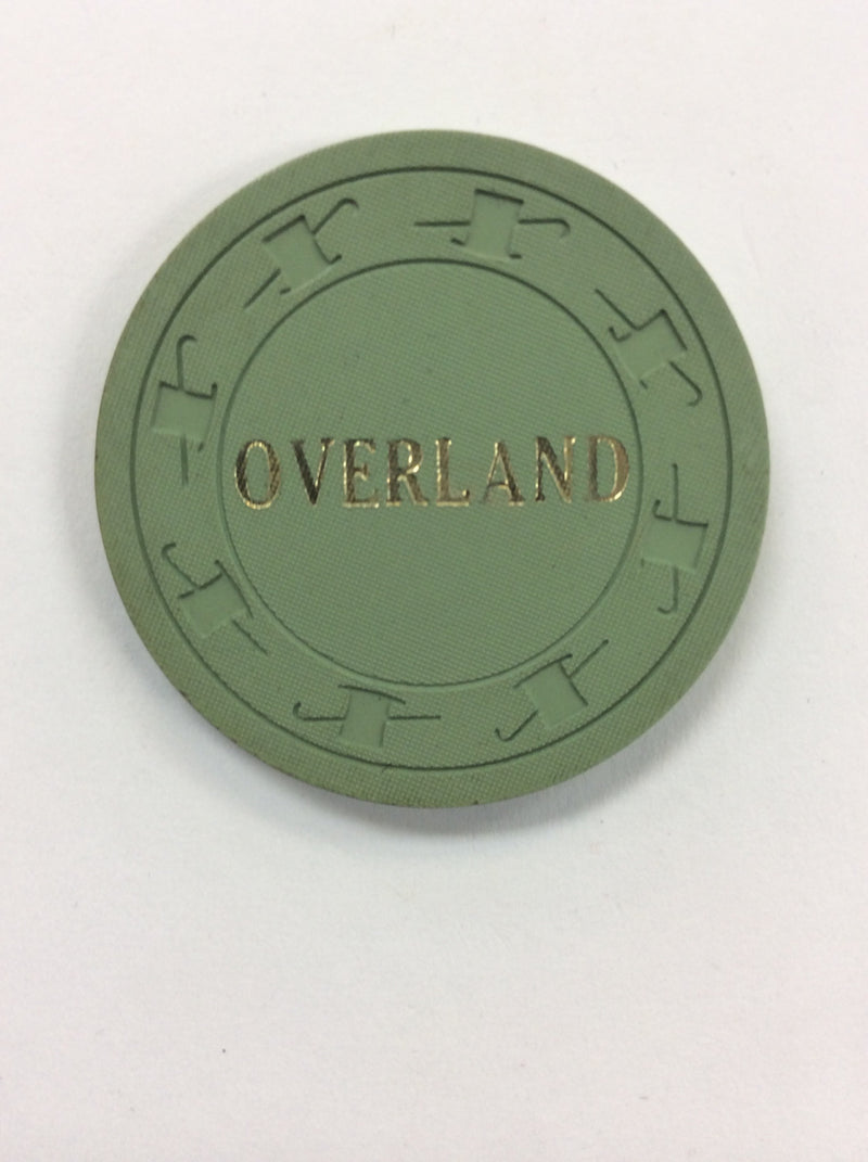 Overland Hotel (green) chip - Spinettis Gaming