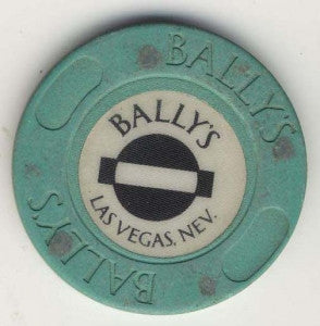 Bally's Casino roulette ( teal 1991) Chip - Spinettis Gaming