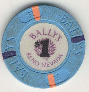 Ballys Casino Reno NV $1 Chip 1991