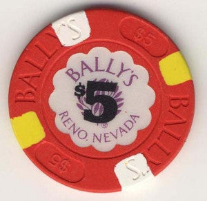 Bally's Reno $5 (red 1986) Chip - Spinettis Gaming
