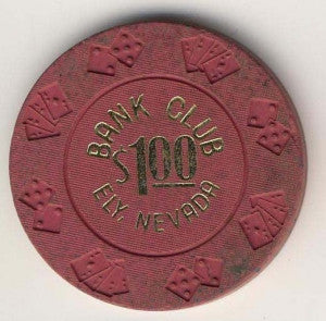 Bank Club Ely $1 (dr pink 1965) Chip