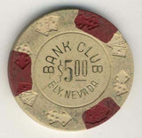 Bank Club Ely $5 (beige 1965) Chip - Spinettis Gaming - 2