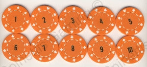 Sequential Mixed Game Poker Chips (1-10) - Spinettis Gaming - 1