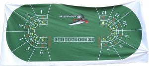 Green Full Size Baccarat Layout - New - Spinettis Gaming - 1