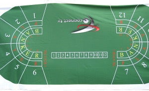 Green Full Size Baccarat Layout - New - Spinettis Gaming - 3