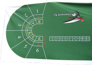Green Full Size Baccarat Layout - New - Spinettis Gaming - 4