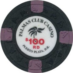 Palmas Club Casino $100 Chip Puerto Plata, Dominican Republic