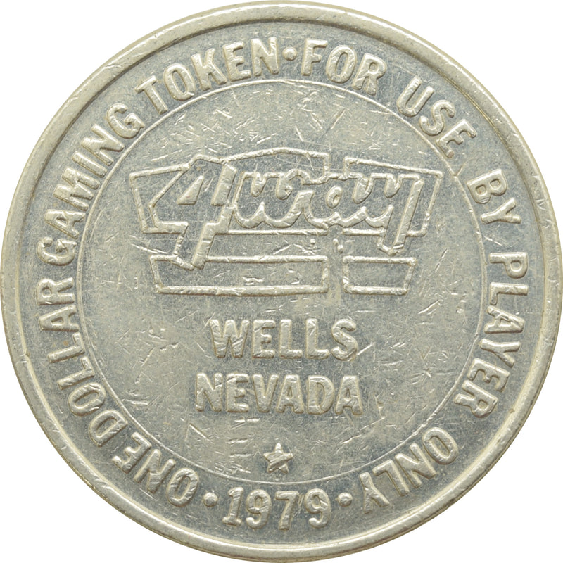4 Way Casino Wells NV $1 Token 1979