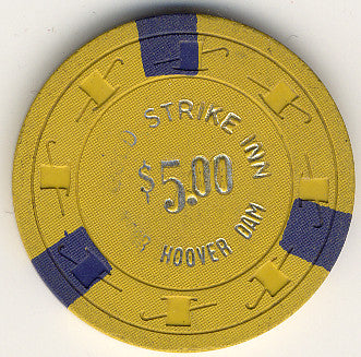 Gold Strike Inn $5 (yellow) chip - Spinettis Gaming - 1