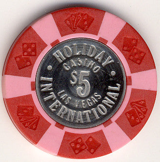 Holiday International $5 coin inlay chip - Spinettis Gaming - 1