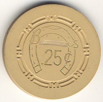 HorseShoe Club 25cent (beige) chip - Spinettis Gaming
