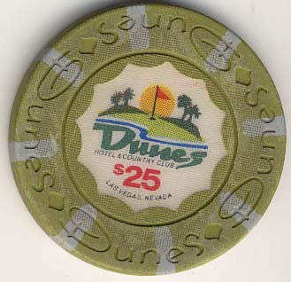 Dunes Casino $25 chip 1989 (circulated) - Spinettis Gaming