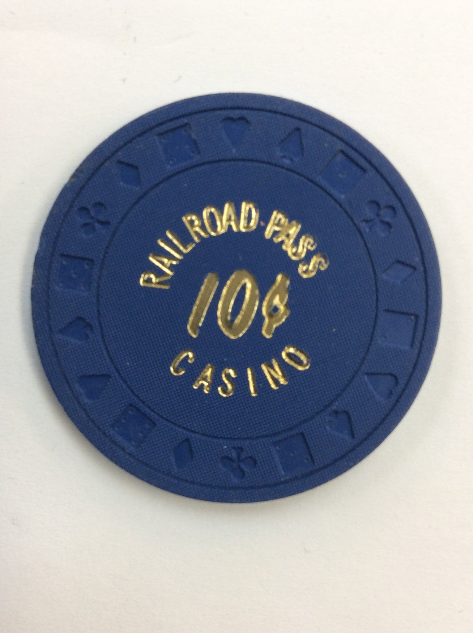Railroad Pass Casino 10cent chip - Spinettis Gaming