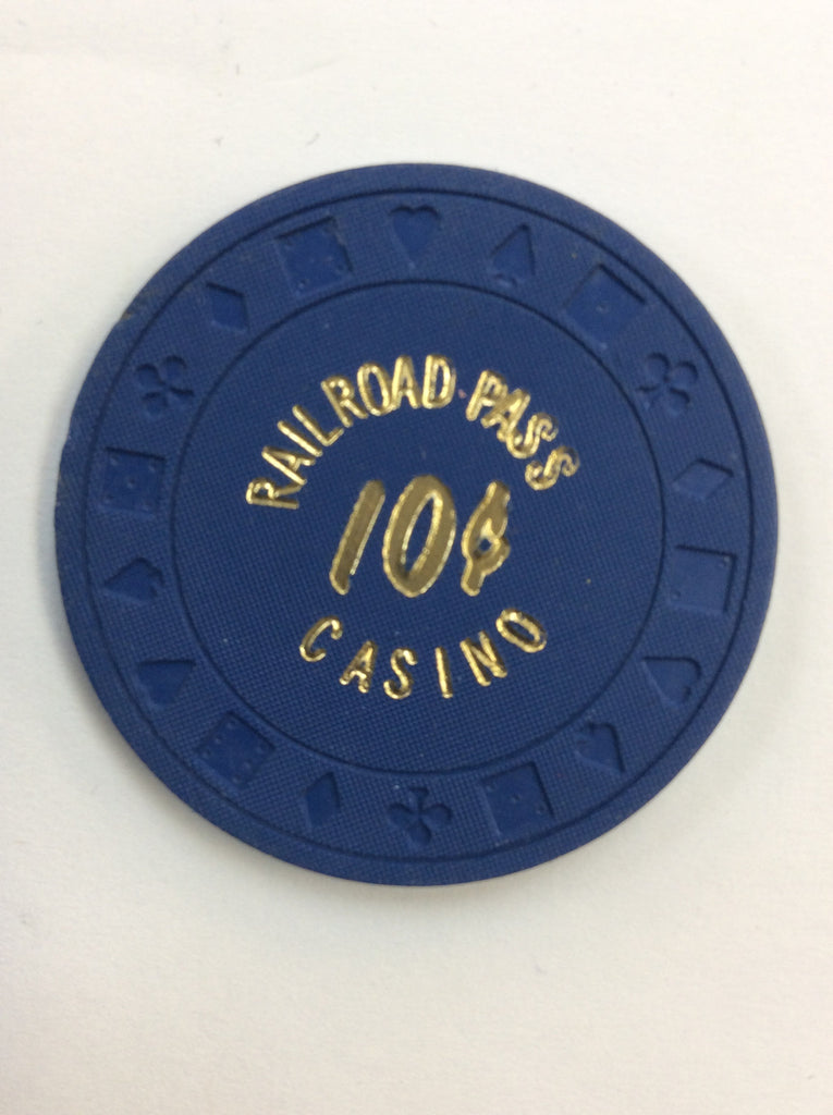 Railroad Pass Casino Henderson NV 10cent chip 1980