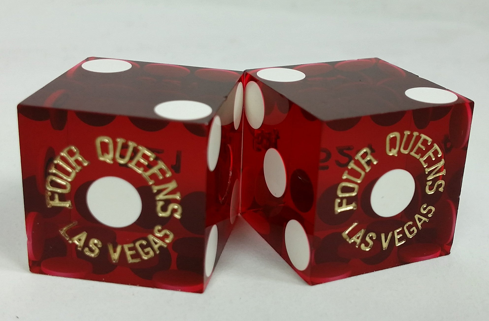Four Queens Casino Las Vegas Used Pair of Dice - Spinettis Gaming