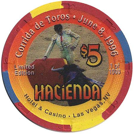 Hacienda $5 (Corrida de Toros ) chip - Spinettis Gaming - 1
