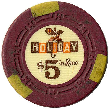 Holiday Casino $5 (burgundy) chip