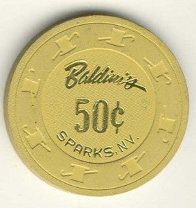 Baldini's Casino 50cent (yellow 1988) Chip - Spinettis Gaming - 1