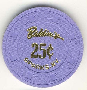 Baldini's Casino 25 (purple 1988) Chip - Spinettis Gaming - 1