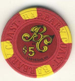 Barbary Coast Casino $5 (red 1988) Chip - Spinettis Gaming - 2