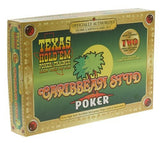 Caribbean Stud Poker & Texas Hold'em Poker Trainer Home Card Game Kit - Spinettis Gaming - 1