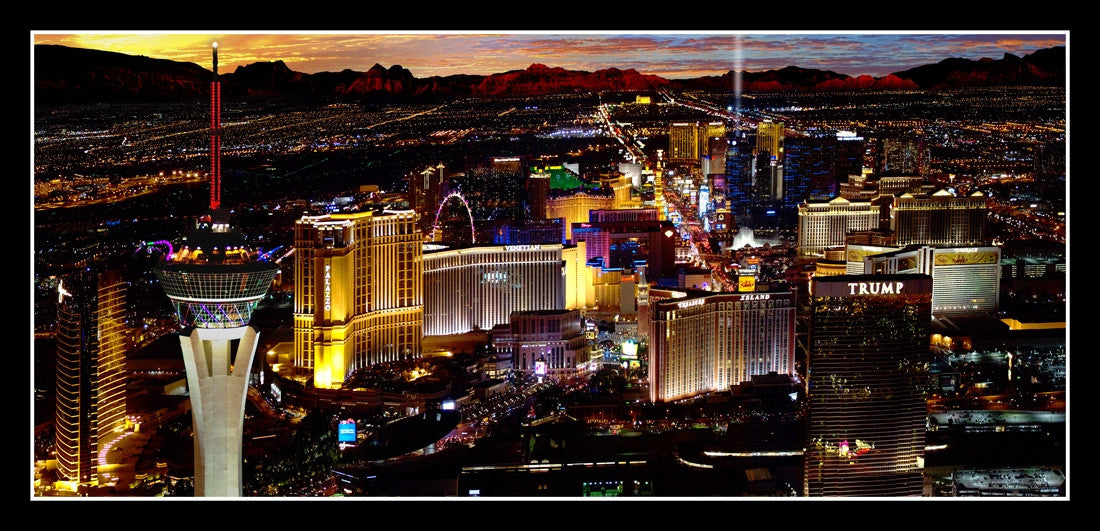 Las Vegas Poster #591 - Helicopter View from the Palazzo Casino - Spinettis Gaming