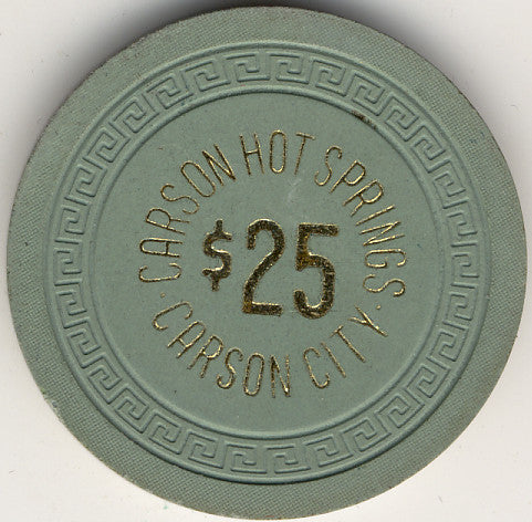 Carson Hot Springs $25 (green 1963) Chip - Spinettis Gaming - 1
