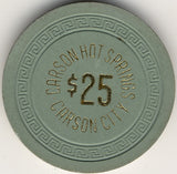 Carson Hot Springs $25 (green 1963) Chip - Spinettis Gaming - 2