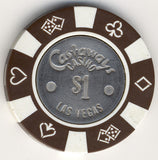 Castaways $1 (brown 1980s) Chip - Spinettis Gaming - 2