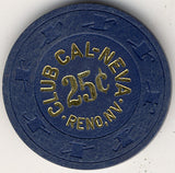 Club Cal-Neva 25 (navy 1908s) Chip - Spinettis Gaming - 2