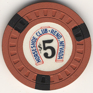 HorseShoe Club $5 (brown) chip