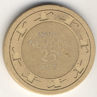 Hotel Nevada Casino Ely NV 25 Cent Chip 1950s